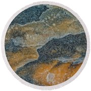 Earth Portrait 283 Round Beach Towel