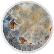 Earth Portrait 286 Round Beach Towel