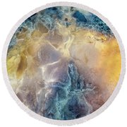 Earth Portrait Round Beach Towel