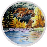 East Clear Creek Round Beach Towel