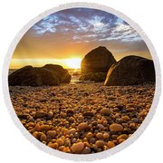 East Marion Sunset Round Beach Towel