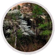 Easter Dogwood Round Beach Towel by Tamyra Ayles