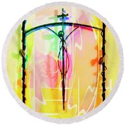 Round Beach Towel featuring the photograph Easter Remembrance by Al Bourassa