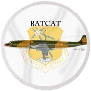 Ec-121r Batcat 6721498 Round Beach Towel by Arthur Eggers