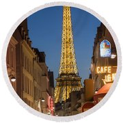 Eiffel Tower Round Beach Towel