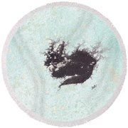 Round Beach Towel featuring the painting Electricat by Marc Philippe Joly