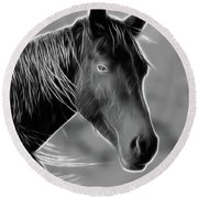 Round Beach Towel featuring the photograph Equine  by Steve McKinzie