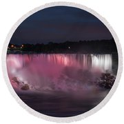 Evening At Niagara Falls, New York View Round Beach Towel
