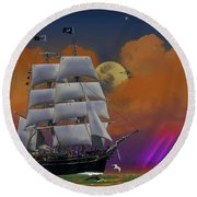 Evening Return For The Elissa Round Beach Towel by J Griff Griffin