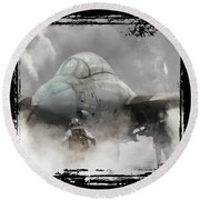 F-14 Smokin' Hot Round Beach Towel