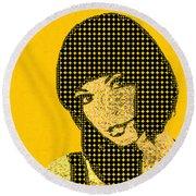 Fading Memories - The Golden Days No.3 Round Beach Towel