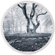 Round Beach Towel featuring the photograph Fairy Tree by Keith Elliott