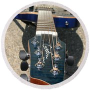 Round Beach Towel featuring the photograph Fall Melody by Marie Neder