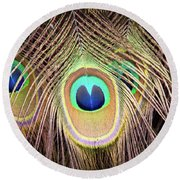 Round Beach Towel featuring the photograph Fan Of Feathers by Joye Ardyn Durham