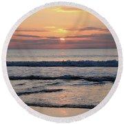 Fanore Sunset 2 Round Beach Towel