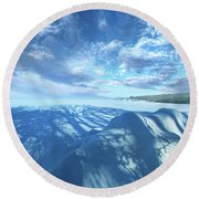 Round Beach Towel featuring the photograph Far And Away by Phil Koch