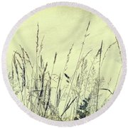 Feathery Round Beach Towel