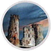 Ferns Castle, Wexford Round Beach Towel