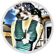Fete-soulac-1900_32 Round Beach Towel