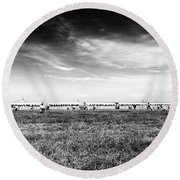 Round Beach Towel featuring the photograph Fields Of The Elysium Locomotive by John Williams