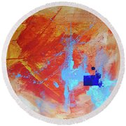 Fire And Ice Round Beach Towel by John Jr Gholson