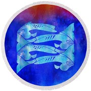 1 Fish 2 Fish Round Beach Towel