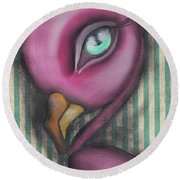 Flamingo Round Beach Towel by Abril Andrade Griffith