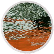 Round Beach Towel featuring the photograph Floating On Blue 43 by Wendy Wilton