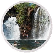 Florence Falls Round Beach Towel