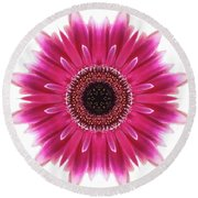 Flower Mandala  Round Beach Towel