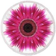 Flower Mandala  Round Beach Towel by Andrea Kollo