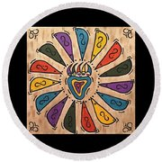 Flower Power Round Beach Towel by Susie WEBER