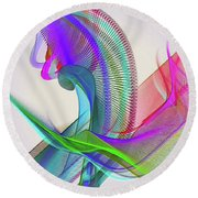 Flower Vase Round Beach Towel