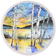 For Love Of Winter #5 Round Beach Towel