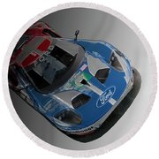 Ford Gt Round Beach Towel by Roger Lighterness