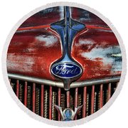 Ford V8 Round Beach Towel