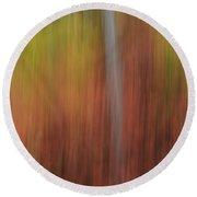 Forest Illusions- Autumn Dance Round Beach Towel