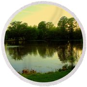 Forest Park Round Beach Towel
