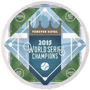 Forever Royal Round Beach Towel