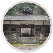 Forrest Shrine, Japan Round Beach Towel