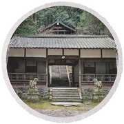 Forrest Shrine, Japan Round Beach Towel