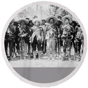 Round Beach Towel featuring the photograph Francisco Pancho Villa by Granger