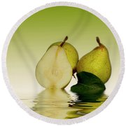 Fresh Pears Fruit Round Beach Towel