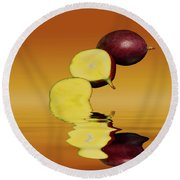 Fresh Ripe Mango Fruits Round Beach Towel by David French