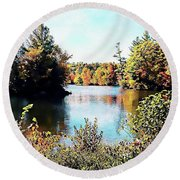 Round Beach Towel featuring the photograph From Vermont With Love by Joseph Hendrix