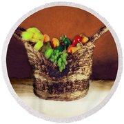 Fruit  Art 11 Round Beach Towel