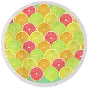 Fresh Fruit  Round Beach Towel by Mark Ashkenazi