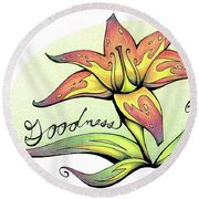 Fruit Of The Spirit Series 2 Goodness Round Beach Towel