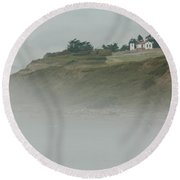 Ft. Casey Lighthouse Round Beach Towel by Tony Locke