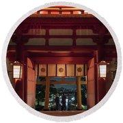 Fushimi Inari Taisha, Kyoto Japan Round Beach Towel